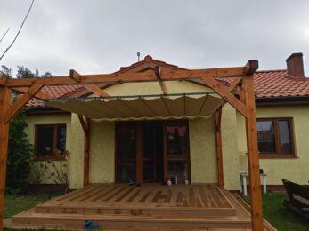zadaszenie tarasu drewniane nowoczesne